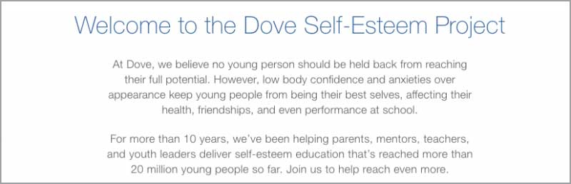 dove self-esteem