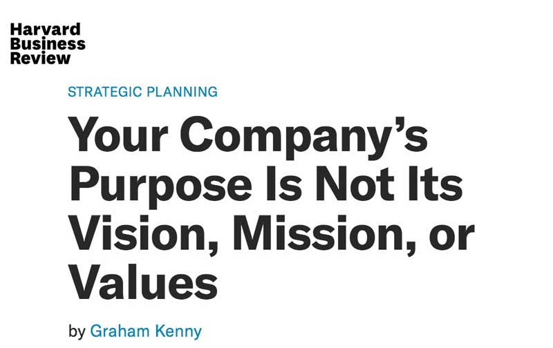 hbr article vision mission values