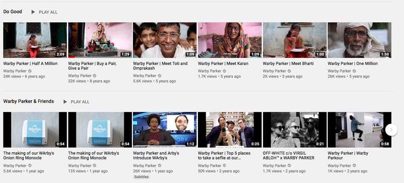 warby youtube