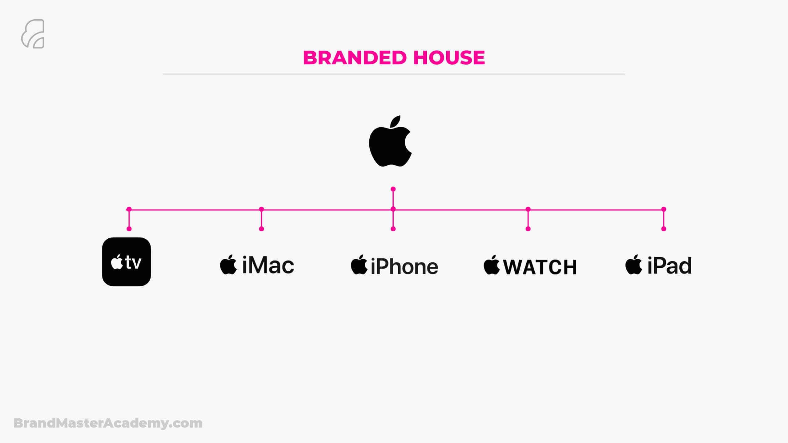 Brand Architecture apple structure